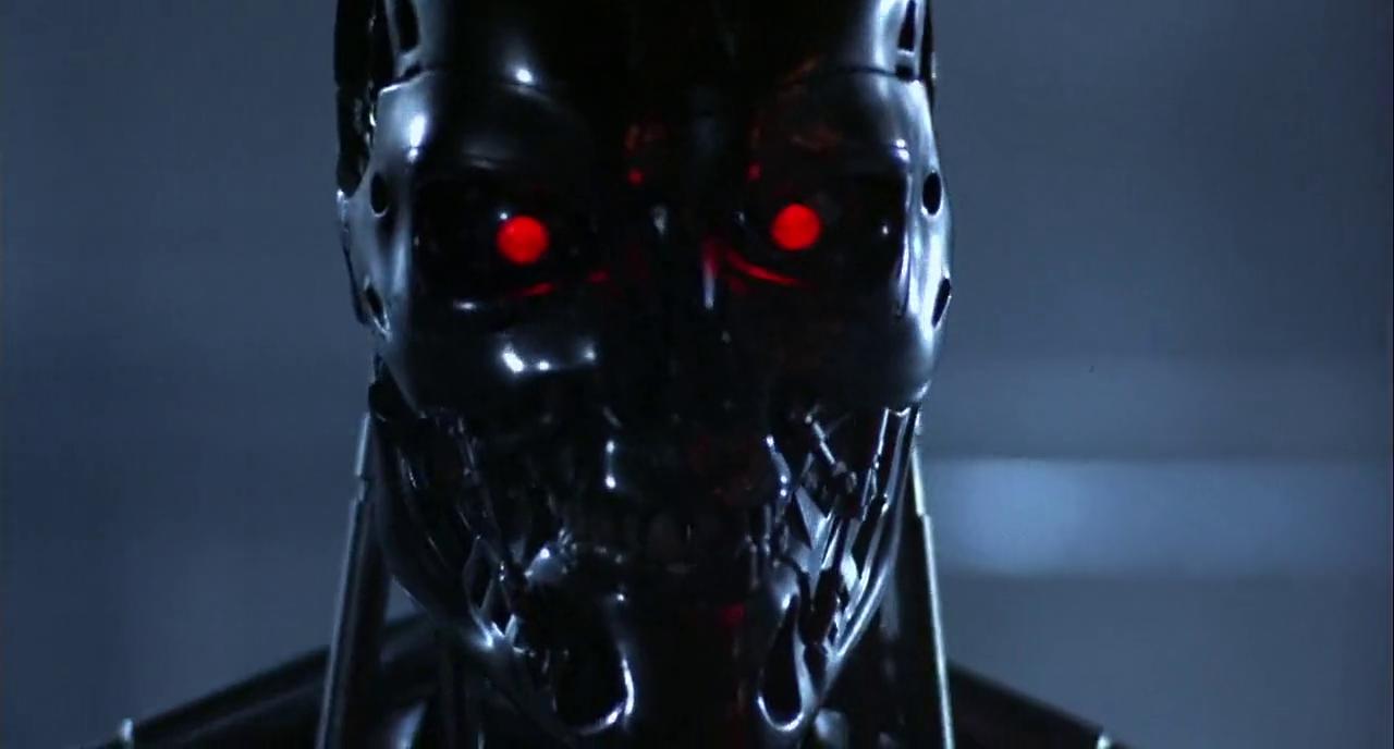 Terminator robot face photo